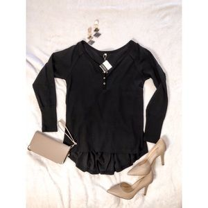 Long-sleeve V-neck Tunic